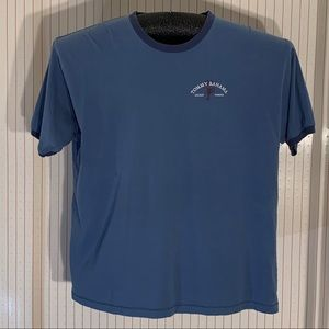 Tommy Bahama Blue relax fit tee shirt.